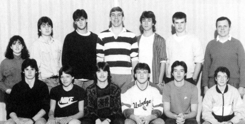 (Click to magnify) FRONT ROW: Jeremy Graham, Jeff Titshall, Kevin Magee, Jamie Miller, Paul Stevens, Gary Martin; ***BAC