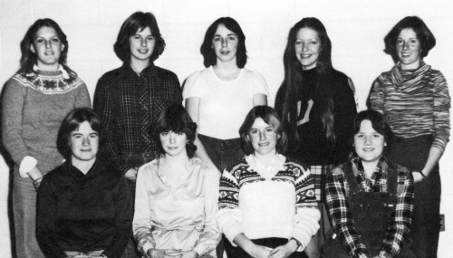 (Click to magnify) FRONT ROW: S. King (President), M. Morrison (vice-president), L. Hockley, M. Fortin; ***BACK ROW: B.