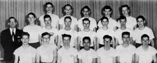 Front Row:Terry Manley,Chris Whitfield,B. Reamon,J.Eng,Joe McGuire, Carl Stevenson, Rich Lunney  Second Row:  Mr. Smith,