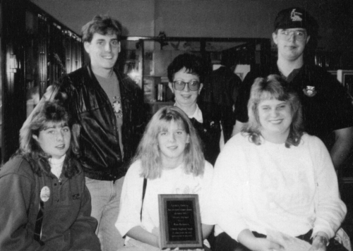 (Click to magnify) FRONT ROW: Denise Clegg, Stavey Bell, Tina Jansen; ***BACK ROW: Ian Davidson, Dawne Duckworth, Kevin