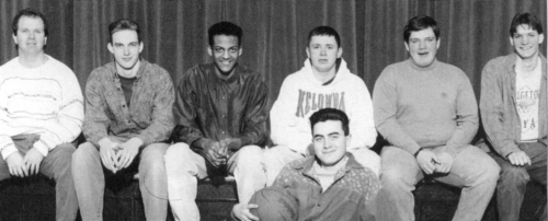 (Click to magnify) FRONT ROW: Blake Palmer; ***BACK ROW: Mr. T. Huleatt, Aaron Anderson, Mark Regis, Bob Ferguson, Brent