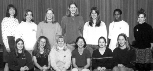 (Click to magnify) FRONT ROW:  Rachel MacMillan, Jessica Armstrong, Krista Couperthuiate, Megan Cotrone, Jenn Imrie, Sar