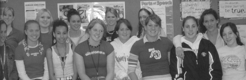 (Click to magnify)  FRONT ROW:  Elizabeth Van Dyck, Tegan Buckingham, Ainslie Drew-Brook, Melanie Thompson, Gillian Vand