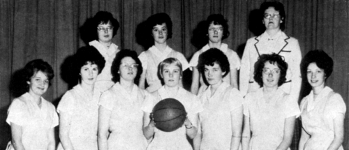 First Row  D.Smith, D.Pethick, J. Slack, Nancy Bernhardt, Linda Ashton, Joan Hickling,C.Tuck  Second Row:Barb Plewes, Be
