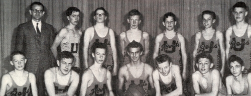 Front Row:  Sandy Williamson, Grant Collins, Ross Prentice, Peter Winkler, Wayne Lyle, Edwin Cook, Harold Yake  Second R